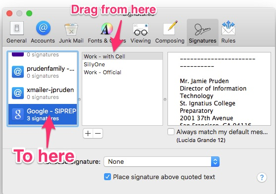 how to add signature apple mail